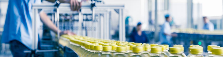Línea de producción de bebida