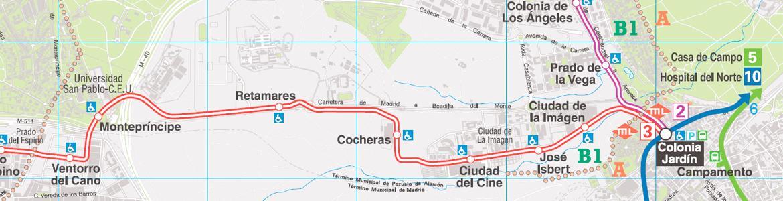 Detalle del plano de Metro Ligero