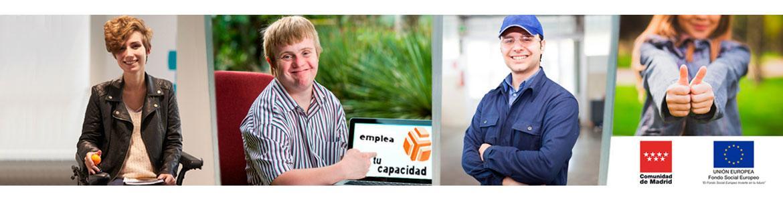 Composición de imágenes ilustrativas de personas con discapacidad que pueden beneficiarse del Programa Emplea tu Capacidad