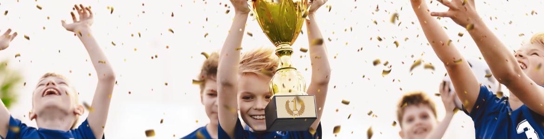 niños fútbol ganadores