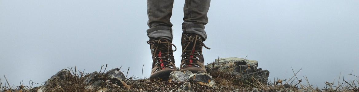 Andando con botas de montaña