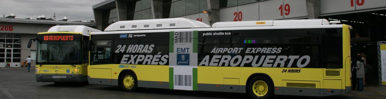 Autobús Exprés Aeropuerto en la Terminal 4