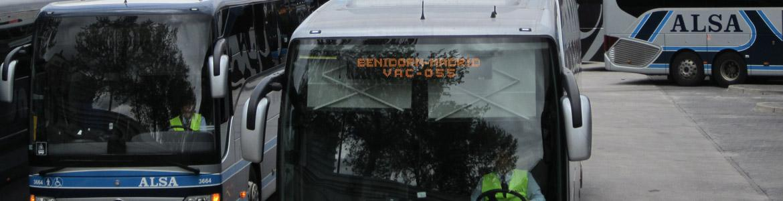 Imagen de autobuses de largo recorrido en Méndez Álvaro