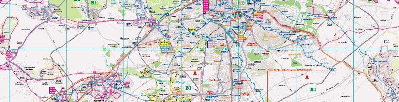 Detalle de plano de autobuses interurbanos