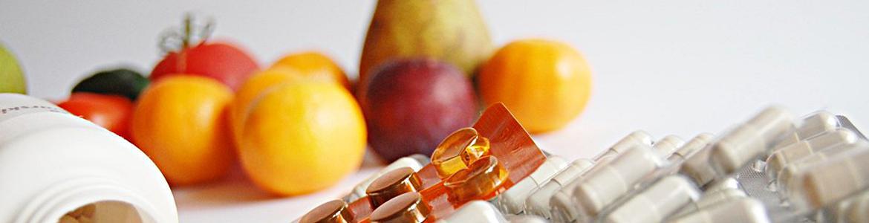 medicamentos y fruta