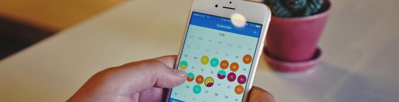 Calendario en un móvil