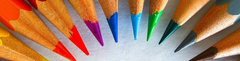 Puntas de lápices de colores