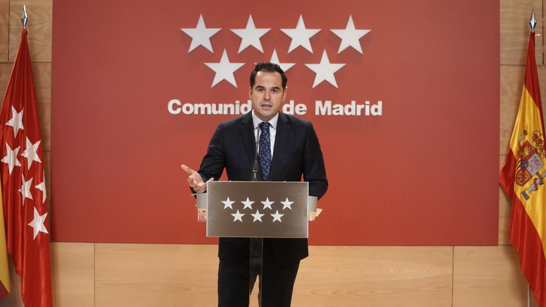 Ignacio Aguado, en rueda de prensa tras la reunión del Consejo de Gobierno