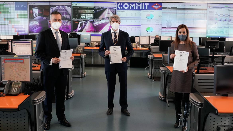 Certificado por las buenas prácticas de Metro frente al Covid-19