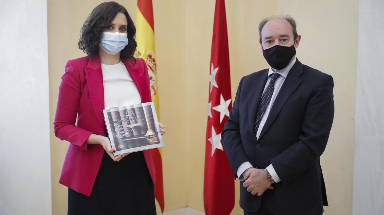 Díaz Ayuso se reúne con el presidente del TSJM