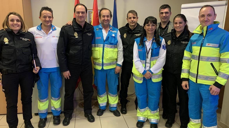 Imagen tras la reunión de trabajo entre la Dirección del SUMMA 112 y los Interlocutores Policiales