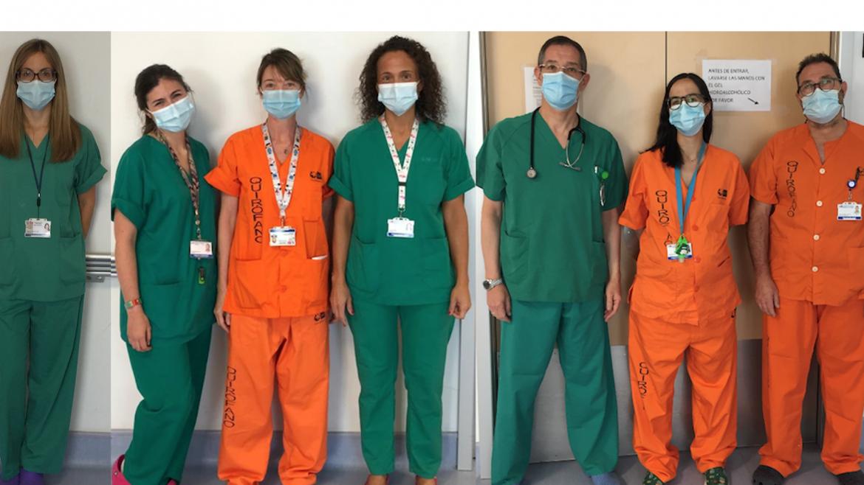 Imagen de profesionales de la UCIP del Hospital Universitario Ramón y Cajal