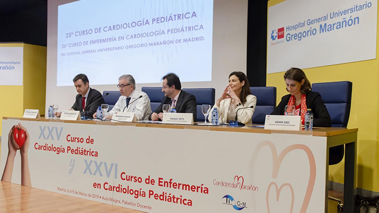 Mesa de ponentes del 25 curso de cardiología pediatrica en el Hospital Gregorio Marañón