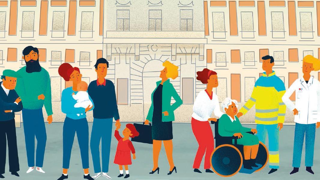 Cartel de la escuela madrileña de Salud