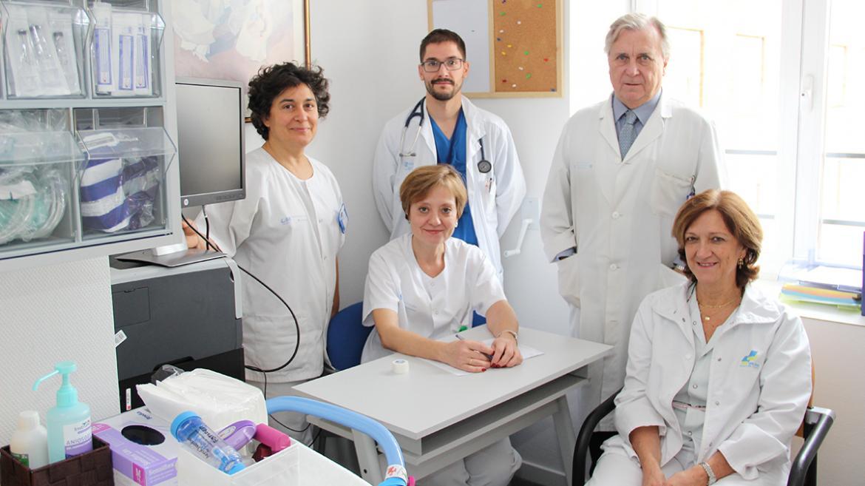 Profesionales del Área de Día Neumológica del Hospital Clínico San Carlos