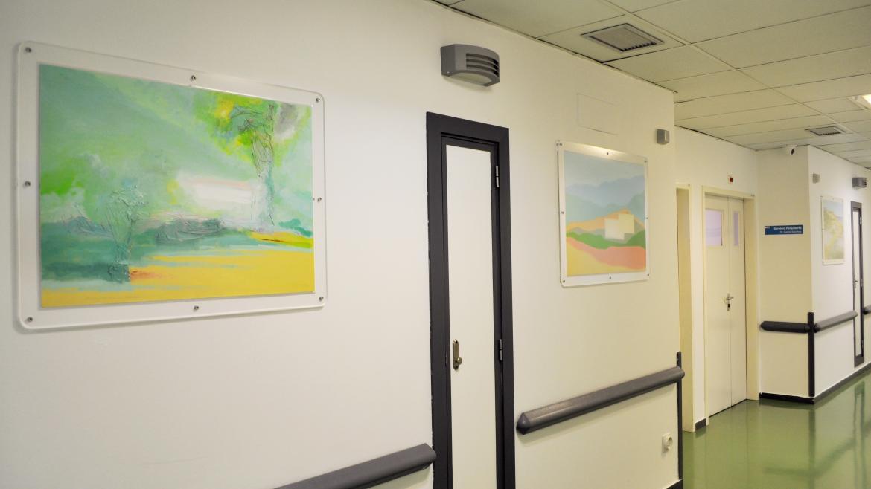 La exposición mural permanente que consta de 6 series diferentes, cada una con 3 obras que hacen unrecorrido desde la figuración a un paso previo a la abstracción