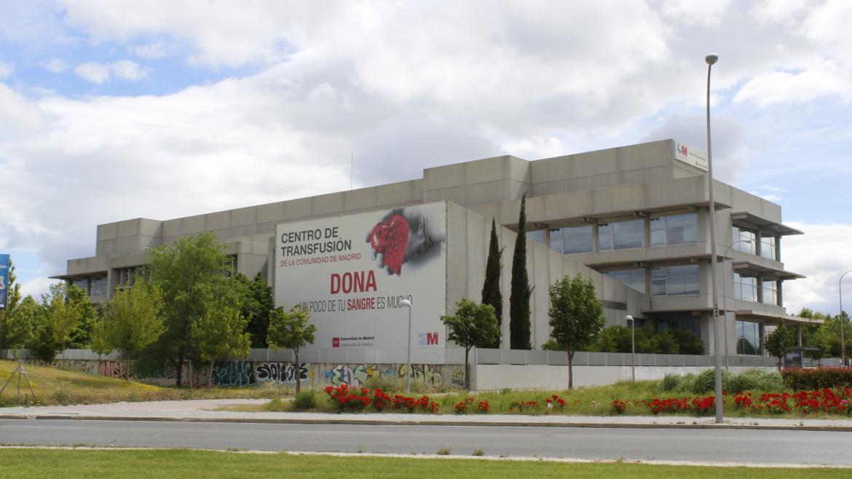 Vista exterior del edificio del Centro de Transfusión.