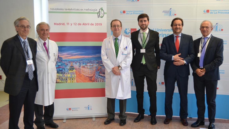 Organizadores de la jornada de enfermedades renales en el Hospital de La Princesa