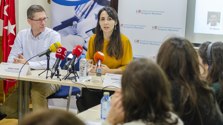 Susana Carmons en rueda de prensa en el hospital gregorio marañón