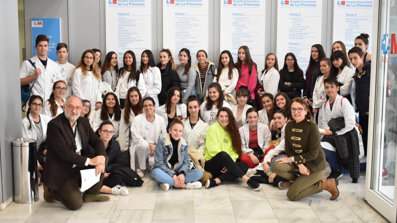 Programa de 4º de la ESO+Empresa en el Hospital de La Princesa