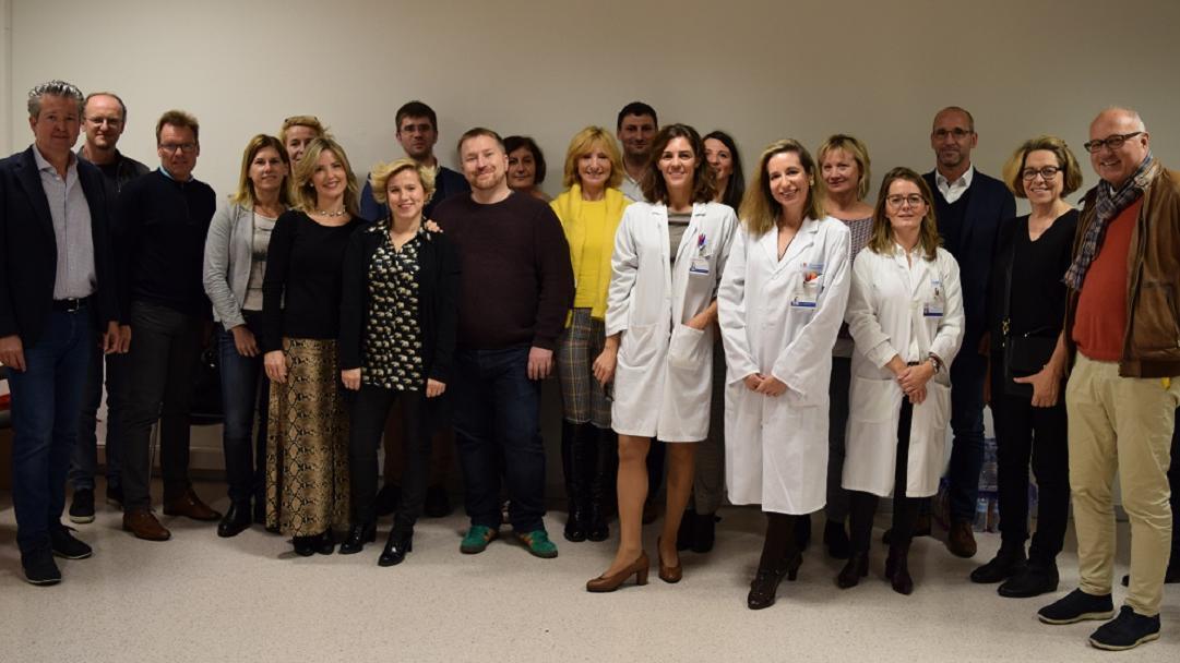 Foto de familia de la delegación y el Servicio de Alergología