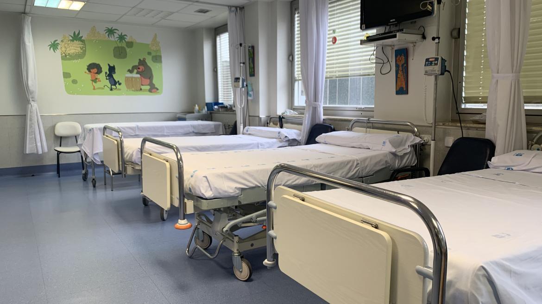 Camas de la Unidad de Hemato-Oncología Pediátrica de La Paz