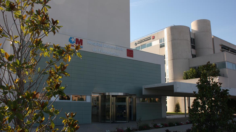 Fachada Hospital de Fuenlabrada, edificio oncológico