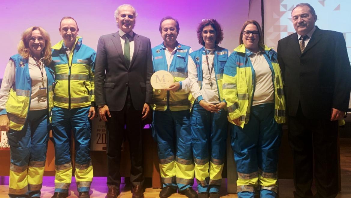 Premiados del SUMMA junto al consejero de Sanidad