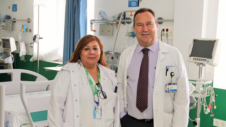 Jennie Ardela y José Antonio Egido, de la unidad de ictus del Clínico