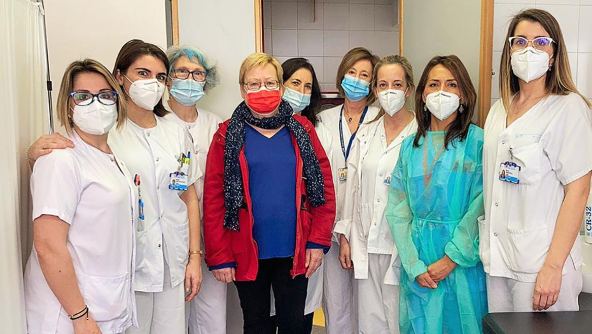 Enfermeras de la consulta de micropigmentación Hospital Clínico