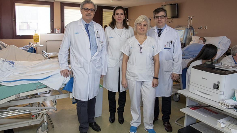 Profesionales Nefrología Cirugía Vascular y Enfermería UMAVER Hospital de Getafe