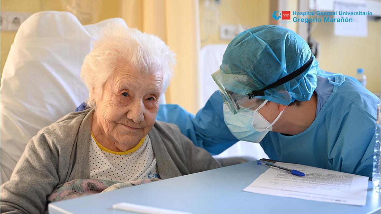 paciente y médico del hospital gregorio marañón