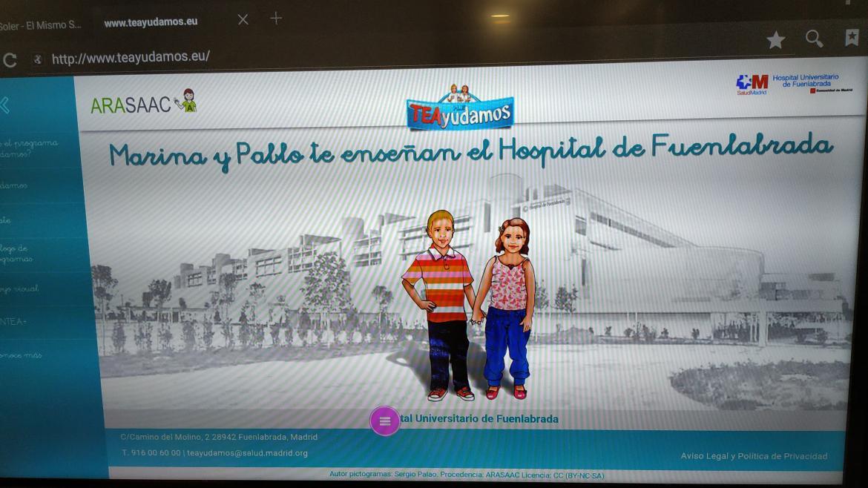 Pantalla interactiva para alumnos del Aula de Salud TEAyudamos
