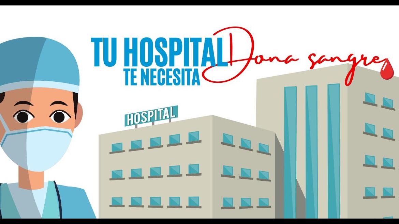 imagen prediseñada de hospital y profesional sanitario