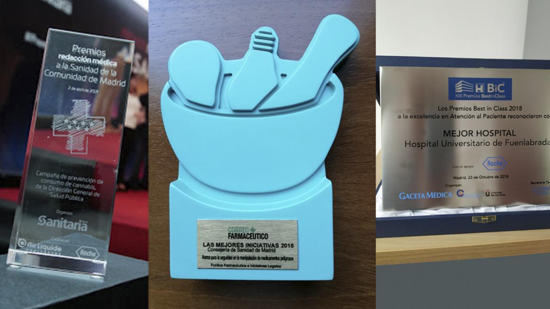 Los diferentes premios recibidos
