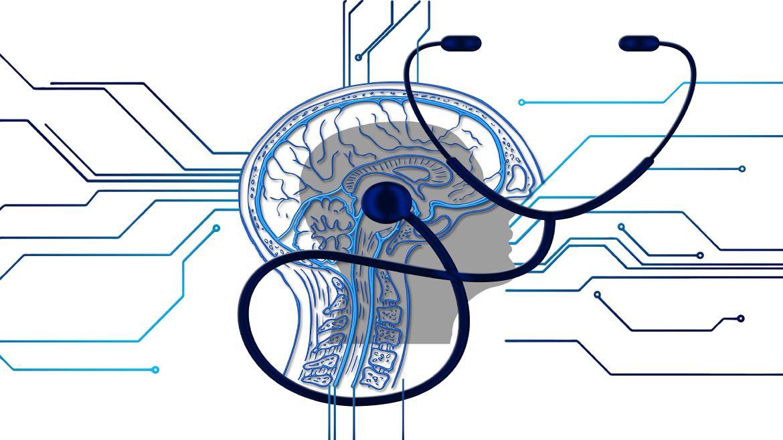 cerebro con fonendoscopio