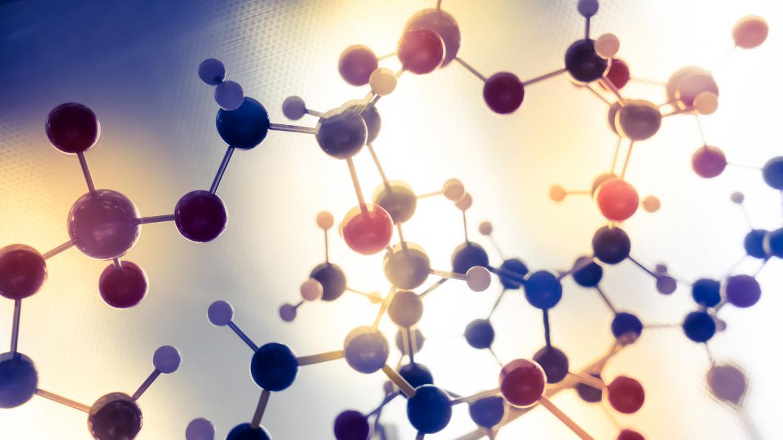 maqueta de estructura molecular