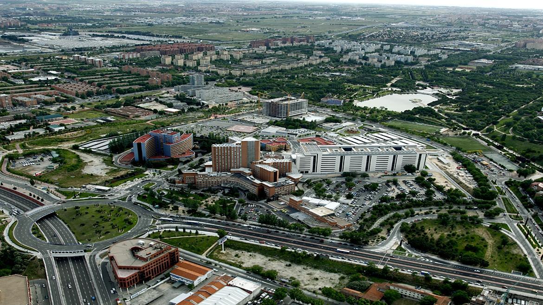 visión aérea hospital 12 de octubre