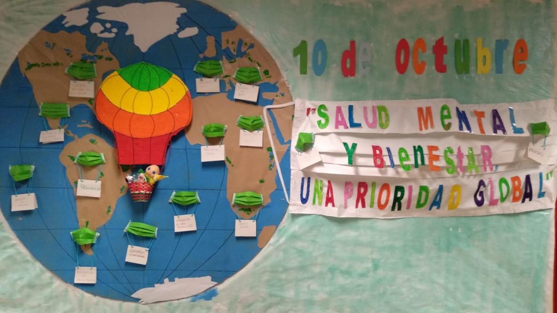 Mural conmemorativo del dia mundial Salud Mental