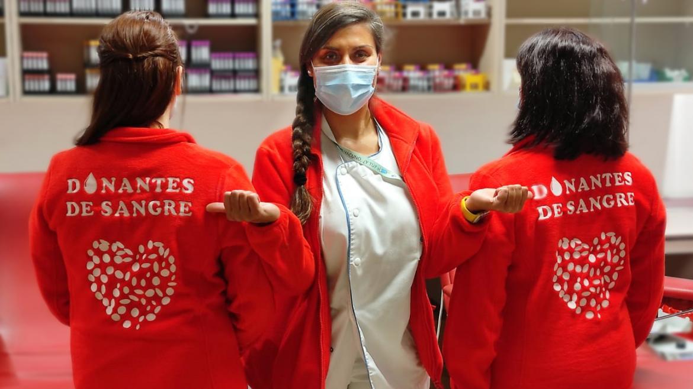Personal de enfermeria de la Unidad de Donación
