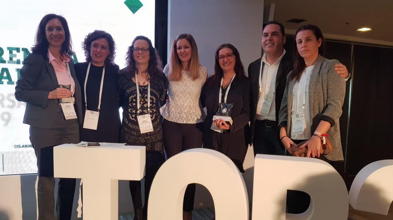 Miembros del Hospital Infanta Cristina recogen el Premio Top20
