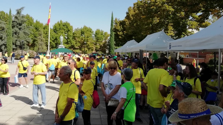 Participantes en una marcha popular