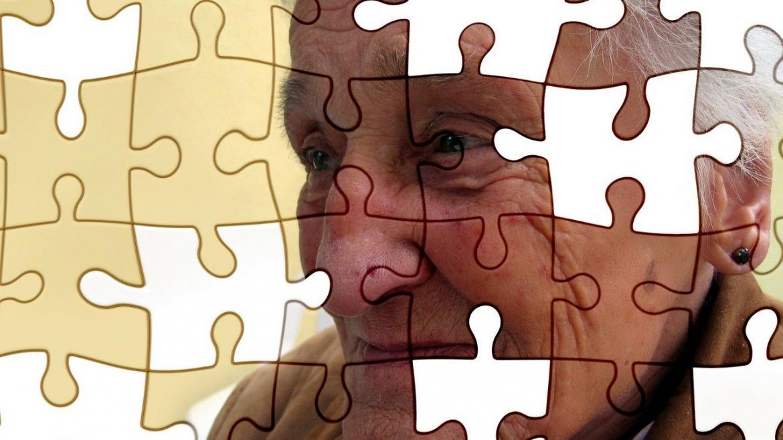 Puzzle imagen cara mujer mayor