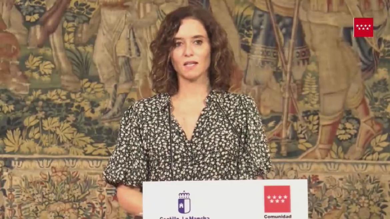DÍAZ AYUSO SE REÚNE CON EL PRESIDENTE DE CASTLLA-LA MANCHA EN TOLEDO