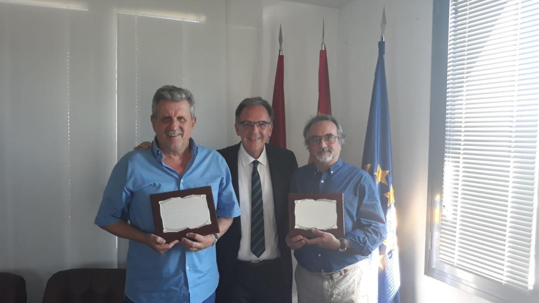 Presidente del Consejo Escolar, Carlos Romero y Francisco Melcón