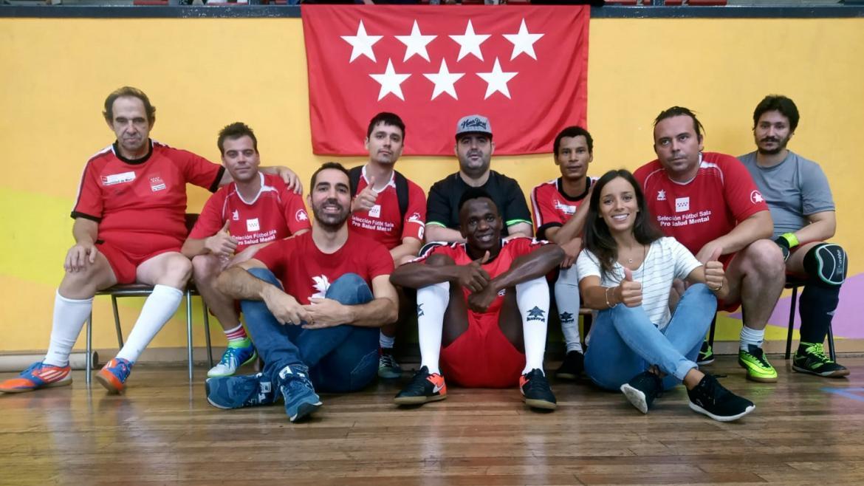 Imagen de grupo de la selección madrileña pro salud mental en el Mentatlon Bilbao 2019