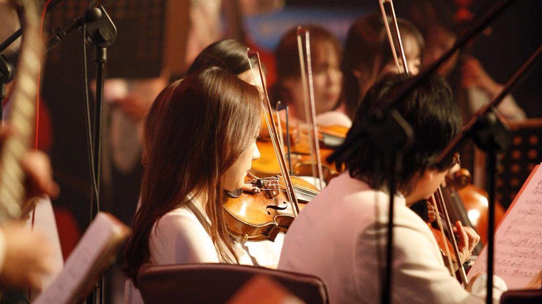 Joven tocando el violín