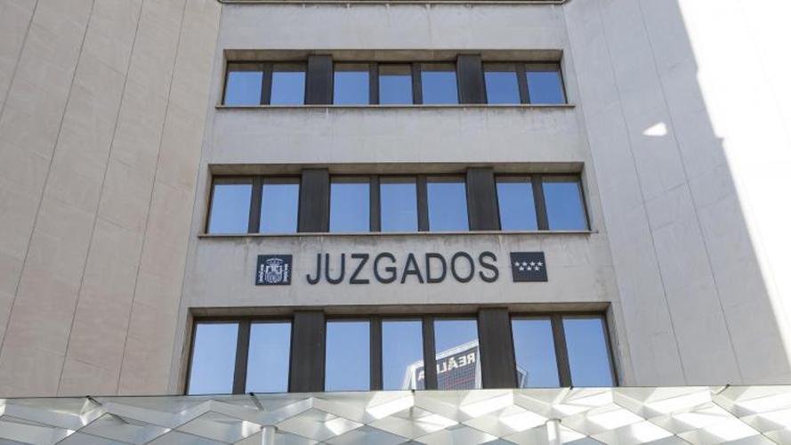 Fachada de los juzgados de Plaza de Castilla en Madrid