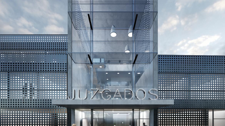 Entrada de la sede judicial de Torrejón de Ardoz