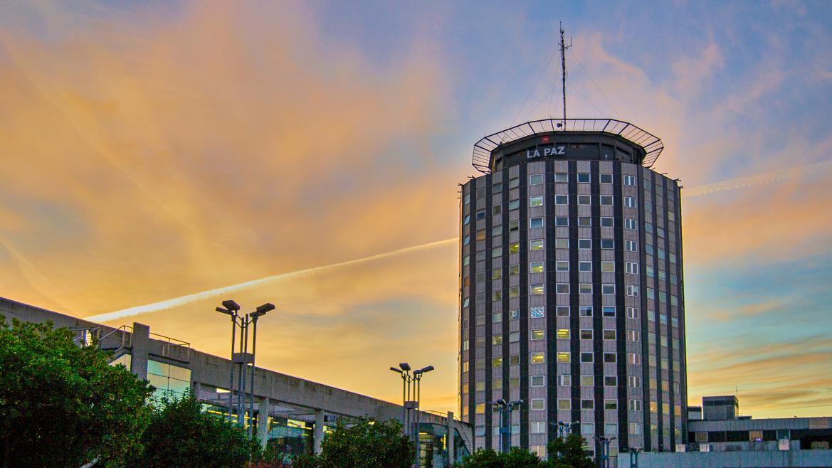 Una vista del Hospital La Paz